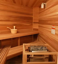 Een Finse sauna thuis plaatsen
